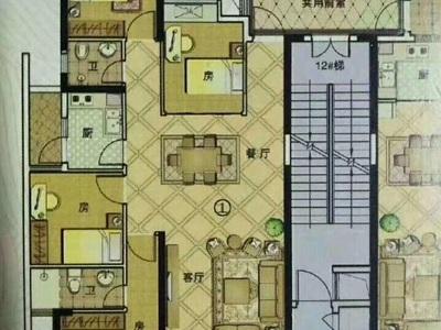 出售宏丰新城包改名4室2厅2卫131平米103.8万住宅