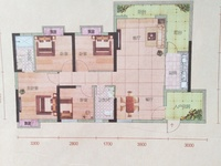 宏丰新城高层,121.71平方,4房2厅,东北向毛坯,103万