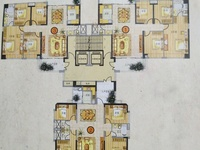 名雅世家东头房,中靓楼层,4房2厅,164平方,南北向毛坯,172万